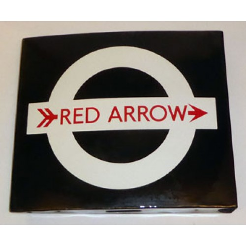 1960s LONDON TRANSPORT RED ARROW BUS STOP GENERAL FLAG
