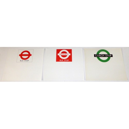 London Transport Paper Temporary Bus Stop Notice Flags (set of 3)