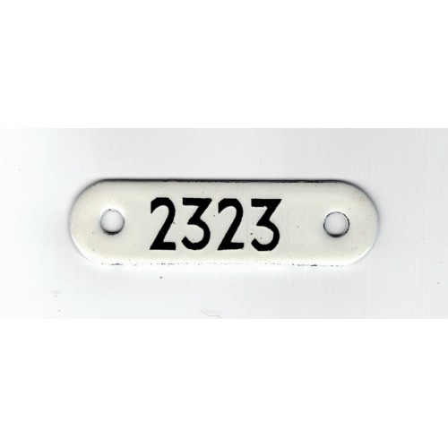 London Transport Bus Stop Enamel Reference Plate 2323