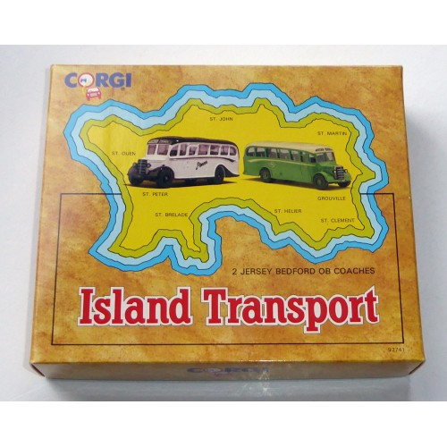 Corgi Classics 'Island Transport' Bedford OB Set of 2 Boxed 97741