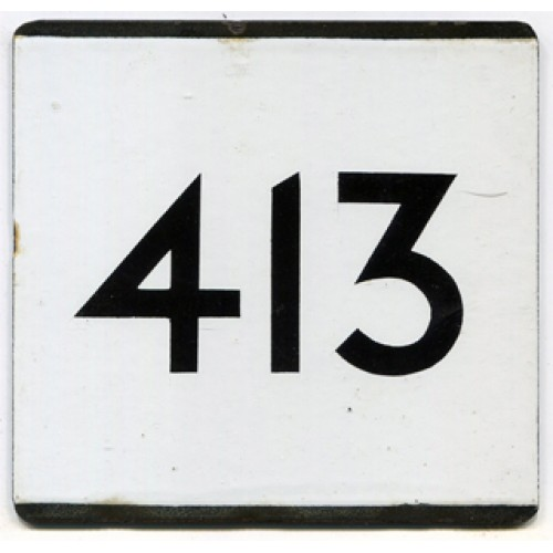 London Transport Bus Stop e Plate 413