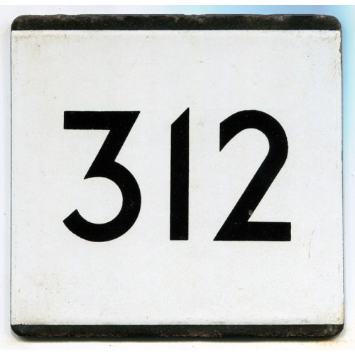 London Transport Country Area Route 312 Bus Stop 'e' Plate
