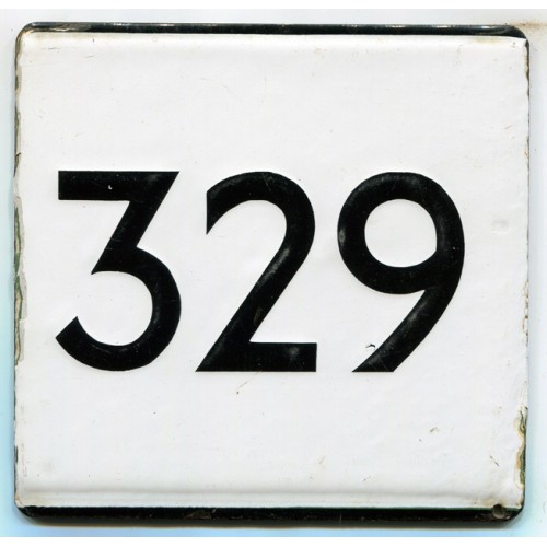 London Transport Country Area Route 329 Bus Stop 'e' Plate