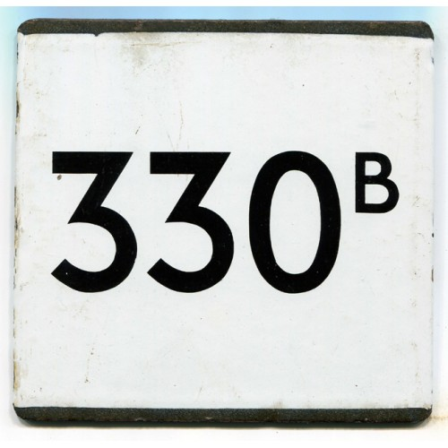 London Transport Country Area Route 330B Bus Stop 'e' Plate