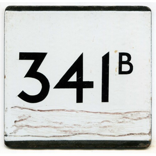 London Transport Country Area Route 341B Bus Stop 'e' Plate