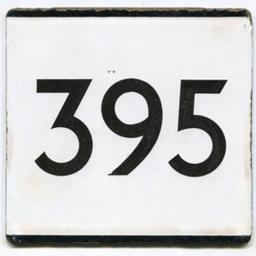 London Transport Route 395 Country Area Bus Stop 'e' Plate