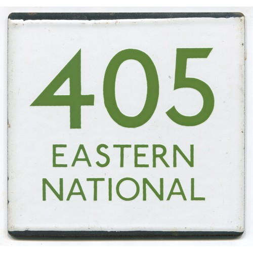 London Transport Route 405 Eastern National Bus Stop 'e' Plate