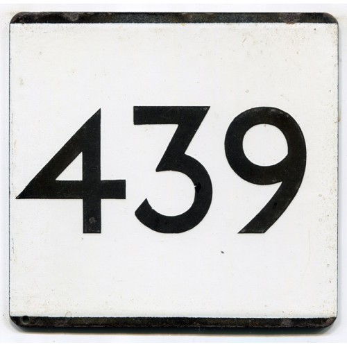 London Transport Country Area Route 439 Bus Stop 'e' Plate