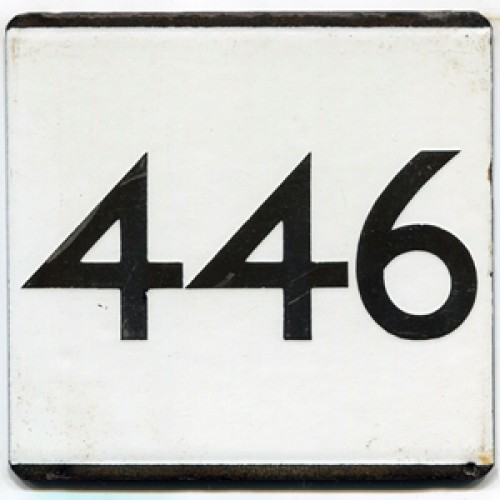 London Transport Country Area Route 446 Bus Stop 'e' Plate