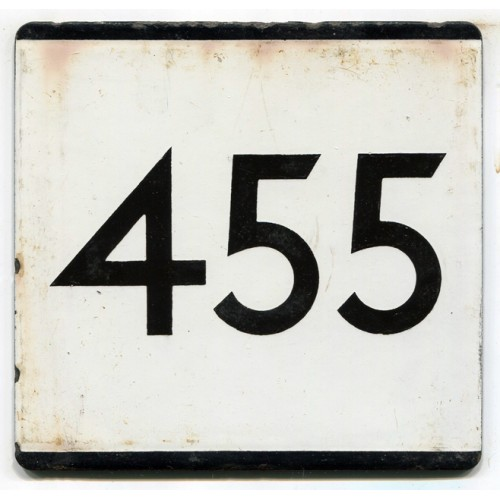 London Transport Country Area Route 455 Bus Stop 'e' Plate