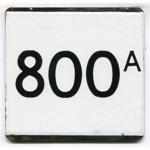 London Transport Route 800A Country Area Town Service Bus Stop 'e' Plate