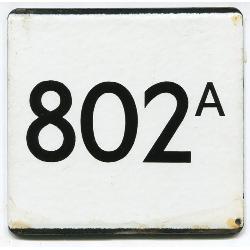 London Transport Route 802A Country Area Town Service Bus Stop 'e' Plate