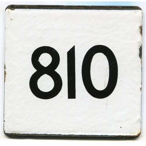 London Transport Route 810 Country Area Town Service Bus Stop 'e' Plate