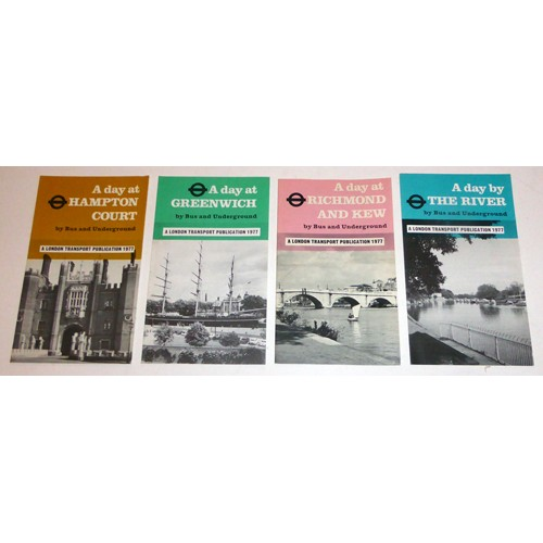 London Transport Set of 4 'A Day Out' Leaflets 1977
