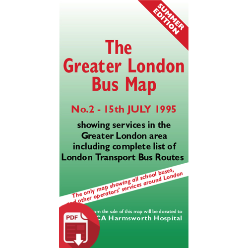The Greater London Bus Map 2 - Digital Download Version