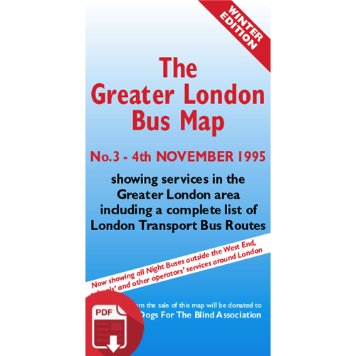 The Greater London Bus Map 3 - Digital Download Version