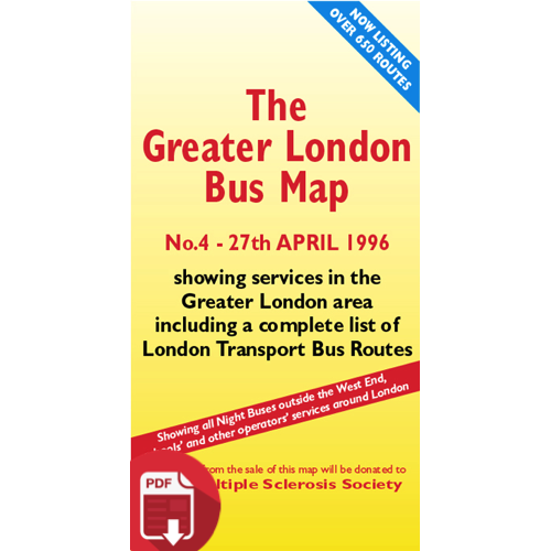 The Greater London Bus Map 4 - Digital Download Version
