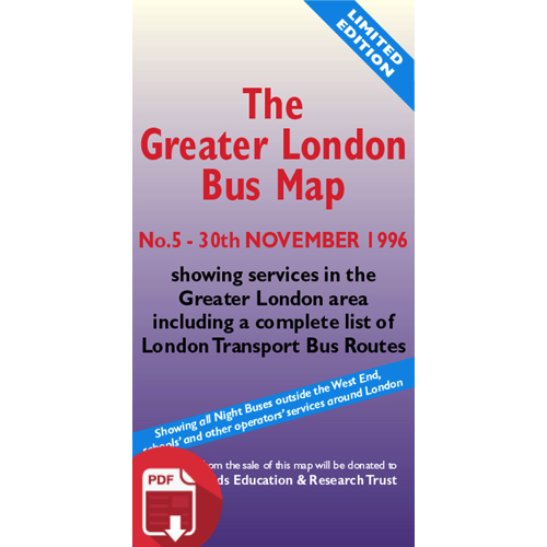 The Greater London Bus Map 5 - Digital Download Version
