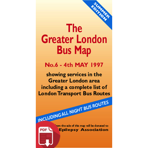 The Greater London Bus Map 6 - Digital Download Version