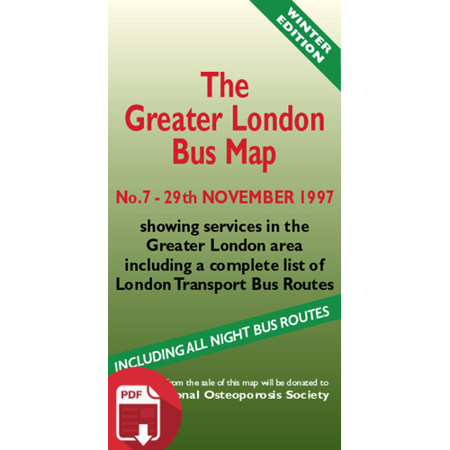 The Greater London Bus Map 7 - Digital Download Version