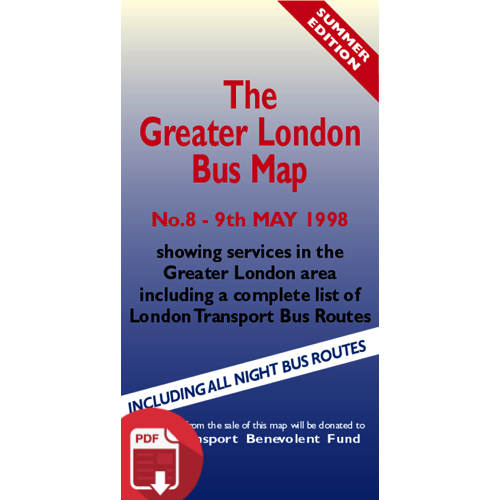 The Greater London Bus Map 8 - Digital Download Version