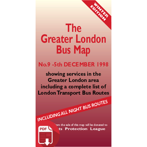 The Greater London Bus Map 9 - Digital Download Version