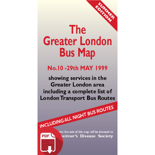 The Greater London Bus Map 10 - Digital Download Version