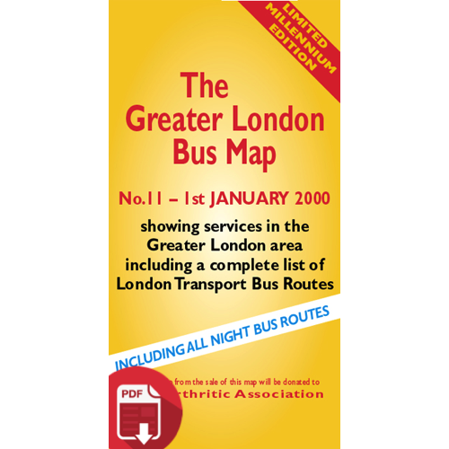 The Greater London Bus Map 11 - Digital Download Version