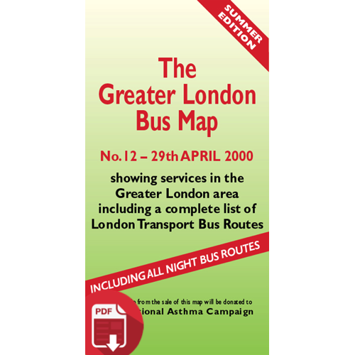 The Greater London Bus Map 12 - Digital Download Version