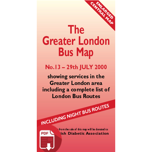 The Greater London Bus Map 13 - Digital Download Version