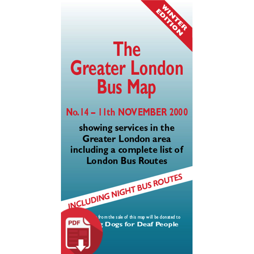 The Greater London Bus Map 14 - Digital Download Version