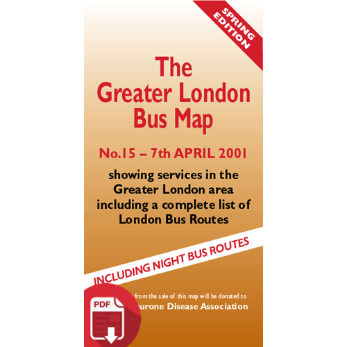 The Greater London Bus Map 15 - Digital Download Version