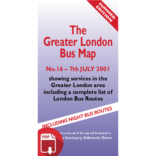 The Greater London Bus Map 16 - Digital Download Version