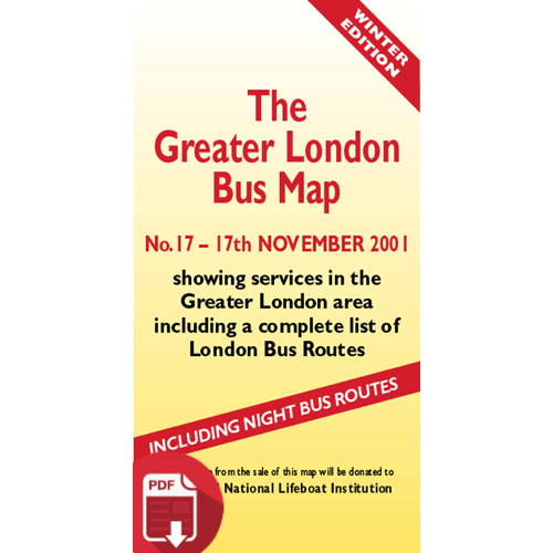 The Greater London Bus Map 17 - Digital Download Version