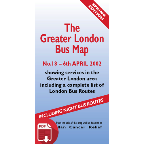 The Greater London Bus Map 18 - Digital Download Version