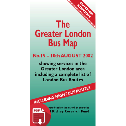 The Greater London Bus Map 19 - Digital Download Version
