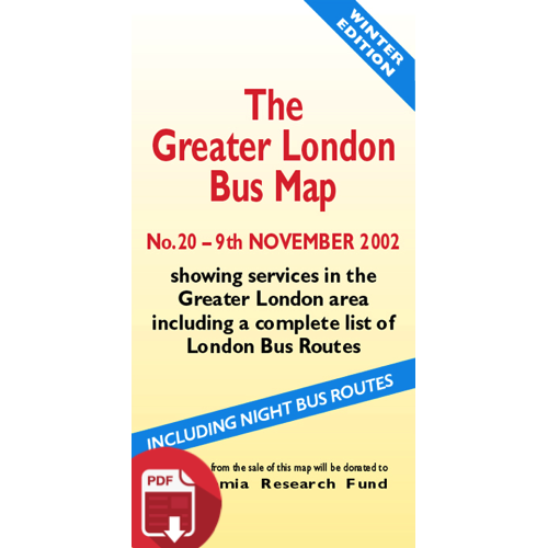 The Greater London Bus Map 20 - Digital Download Version