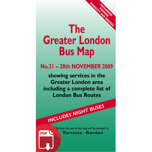 The Greater London Bus Map 31 - Digital Download Version