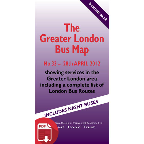 The Greater London Bus Map 33 - Digital Download Version
