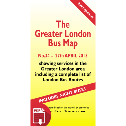 The Greater London Bus Map 34 - Digital Download Version
