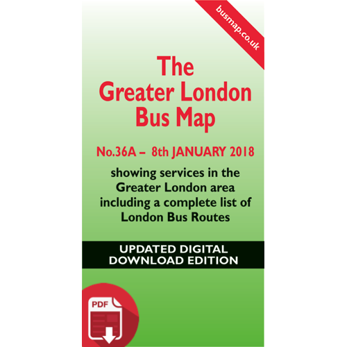 The Greater London Bus Map 36 - UPDATED Digital Download Version
