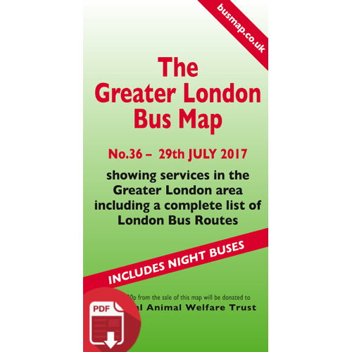 The Greater London Bus Map 36 - Digital Download Version