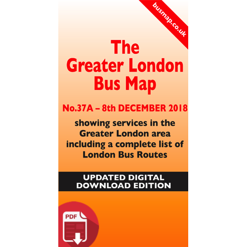 The Greater London Bus Map 37 - UPDATED Digital Download Version