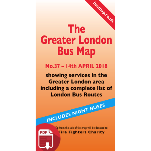 The Greater London Bus Map 37 - Digital Download Version