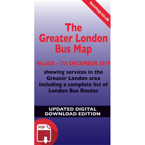 The Greater London Bus Map 38A - UPDATED Digital Download Version