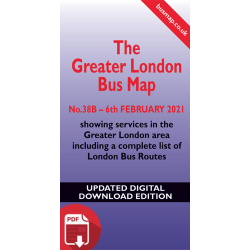 The Greater London Bus Map 38B - UPDATED Digital Download Version
