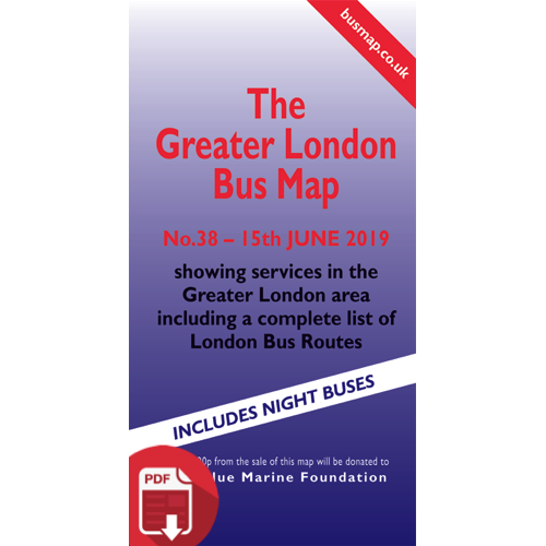 The Greater London Bus Map 38 - Digital Download Version