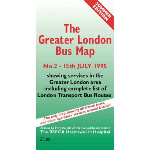 The Greater London Bus Map 2 - Printed Version