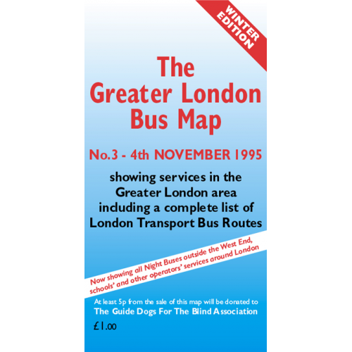 The Greater London Bus Map 3 - Printed Version