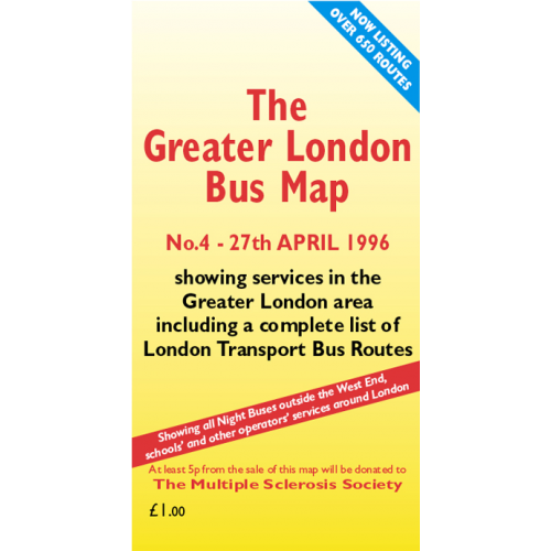 The Greater London Bus Map 4 - Printed Version